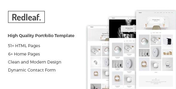 Redleaf - Minimal Portfolio HTML Template - Portfolio Creative