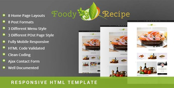 Foody - Creative Personal Blog - HTML Template - Retail Site Templates
