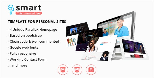 Smart - Personal CV, Politician, Dentist, Athlete, Celebrity Site Template - Resume / CV Specialty Pages