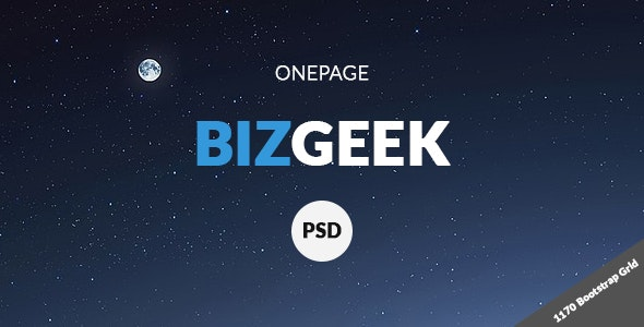 BizGeek - One Page Corporate PSD - Business Corporate