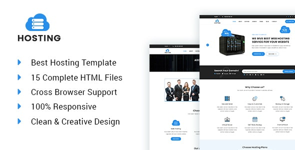 Hostripe - Web hosting and technology HTML5 template - Hosting Technology