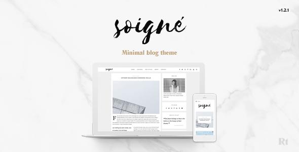 Soigne - A Responsive Minimal WordPress Blog Theme - Personal Blog / Magazine