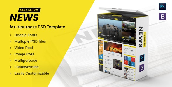 News Magazine - Multipurpose News Magazine PSD Template - Business Corporate