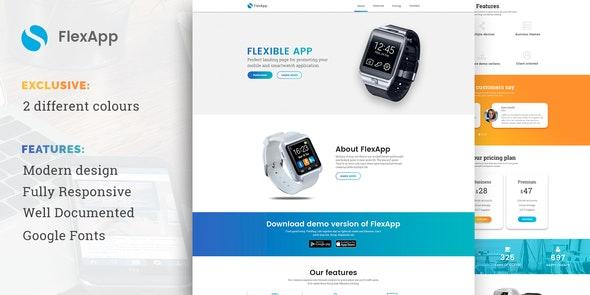 FlexApp - Creative Multipurpose App Landing Page - Marketing Corporate