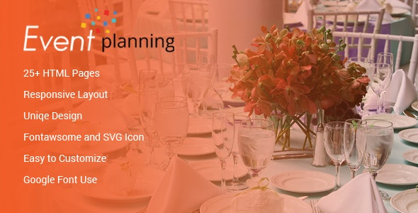 Event Planning HTML Template - Events Entertainment