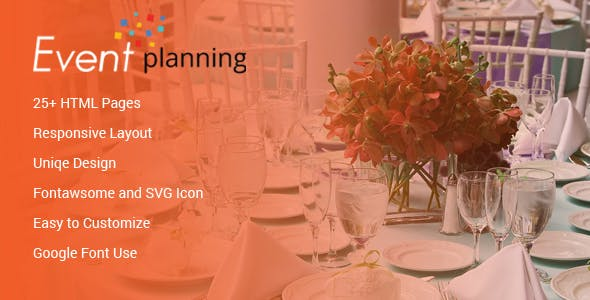 Event Planning HTML Template