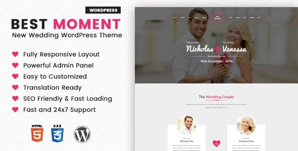 Best Moments - Modern Wedding WordPress Theme - Wedding WordPress