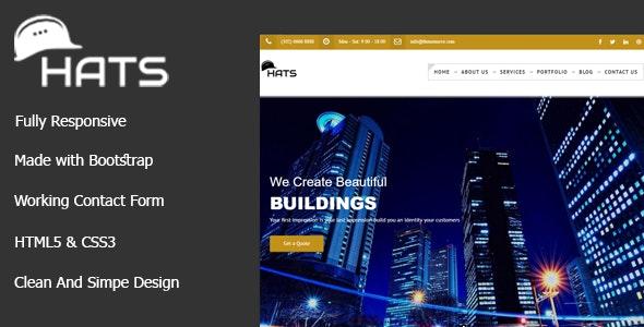 HATS - Premium Construction Template - Business Corporate