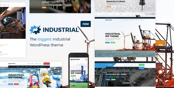 Industrial v1.6.2 – Factory Business WordPress Theme