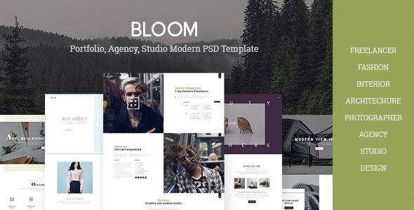 Bloom Multi Purpose Design Architecture Interior Portfolio Psd Template By Unionagency