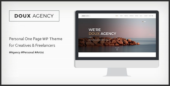 Doux - Creative One Page WordPress Theme - Creative WordPress