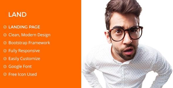 Landing Page / Portfolio PSD Template - Portfolio Creative