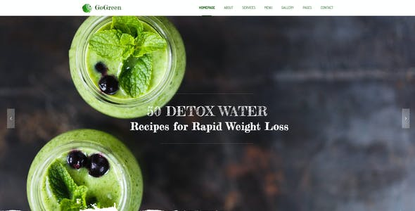 GoGreen Detox Water PSD Template