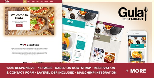 Gula - Multipage HTML5 Template - Restaurants & Cafes Entertainment