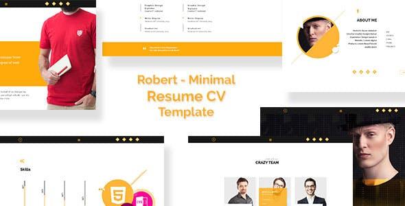 Robert - Personal Resume/CV - HTML Template