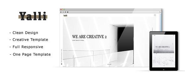 Yalli - One Page Creative HTML Template - Creative Site Templates