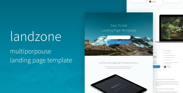 Landzone | The Multi-Purpose Landing Page Template - Landing Pages Marketing