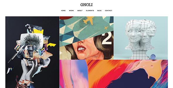 Portfolio WordPress Theme - Gnoli - Portfolio Creative
