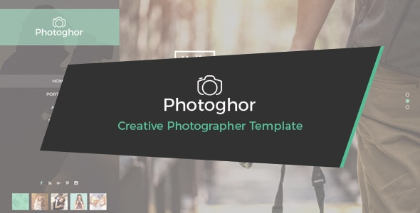 Photoghor - Creative Photographer PSD Template - Photography Creative