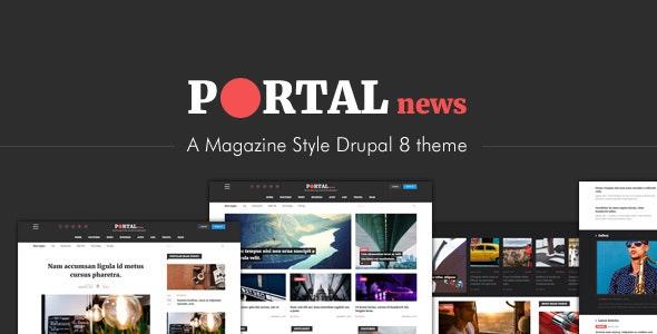 Portal News - Multi-purpose Magazine Style Drupal 8 Theme - Blog / Magazine Drupal