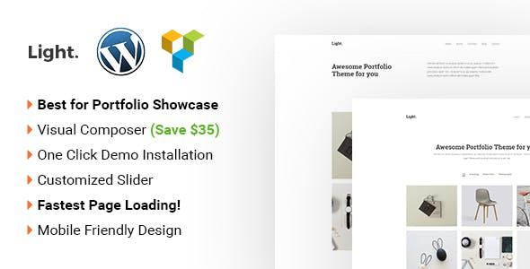 Light - Minimalist WordPress portfolio theme