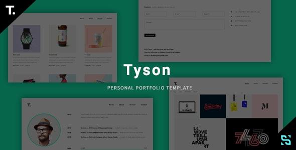 Tyson - Personal Portfolio Template - Personal Site Templates