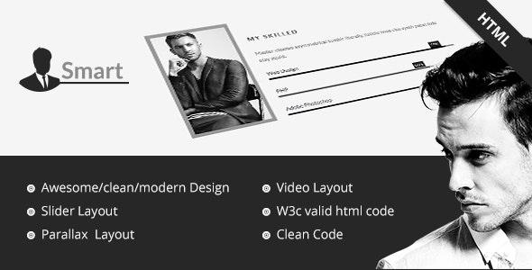 Smart | Personal Portfolio / CV / Resume Template - Personal Site Templates
