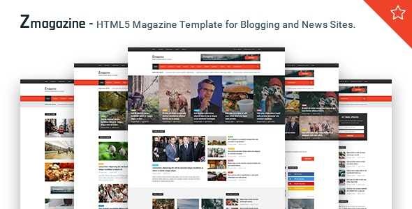 Zmagazine - News, Magazine & Blog HTML Template by BDevs