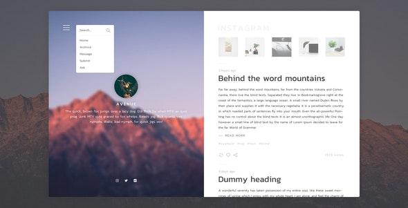 Avenue - Stunning Blogging Tumblr Theme - Blog Tumblr