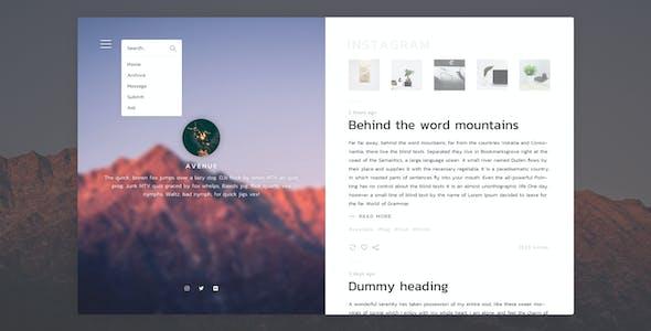 Avenue - Stunning Blogging Tumblr Theme