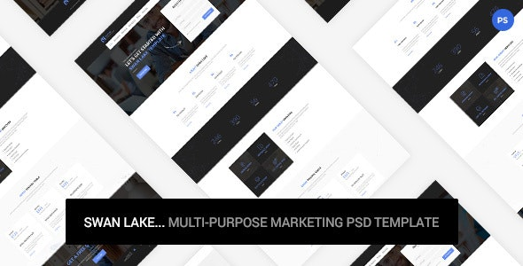 Swan Lake - Marketing PSD Template - Marketing Corporate