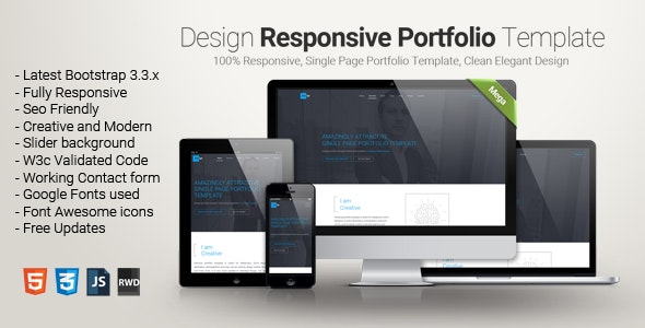 Design - One Page Portfolio Template - Personal Site Templates