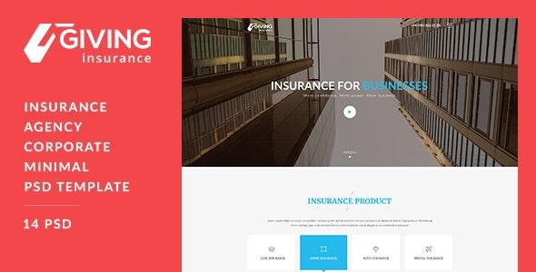 Insurance PSD Template - Business Corporate