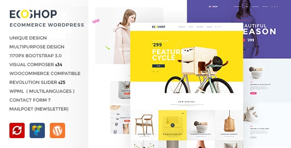 ECOSHOP - Multipurpose eCommerce WordPress Theme - WooCommerce eCommerce
