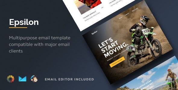 Epsilon - Multipurpose Email Template + Builder 2.0 - Email Templates Marketing