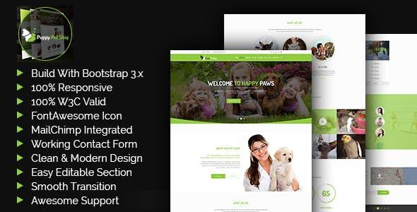 Petshop -  Pet Shop, Veterinary Template