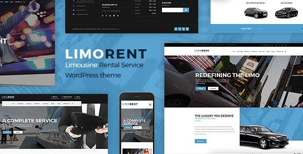 Limo Rent - Limousine and Car Rent WordPress Theme - Business Corporate