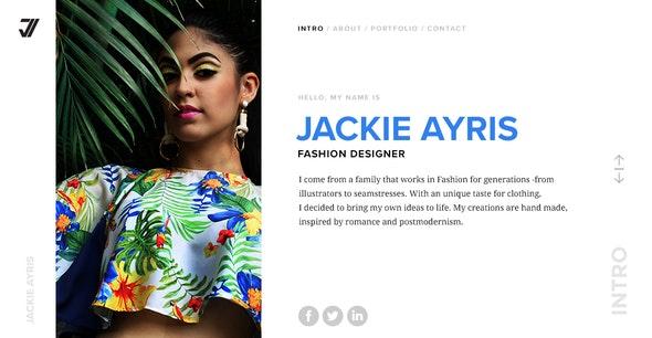 VIZAG - Personal Portfolio Theme for Designers - Portfolio Creative