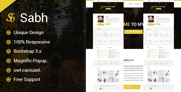 Sabh - Onepage Creative Personal Template - Personal Site Templates