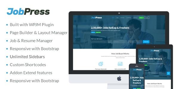 JobPress - Premium WordPress Job Manager Theme - Directory & Listings Corporate