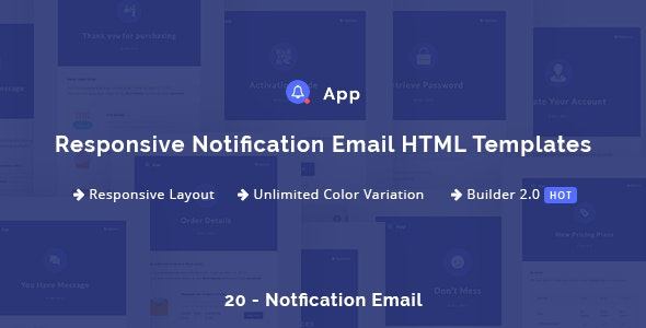 NotificationApp - Responsive Notification Email HTML Templates - Newsletters Email Templates
