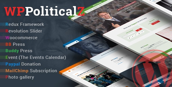 WPPoliticalz - Election Campaign Political WordPress Theme - Political Nonprofit