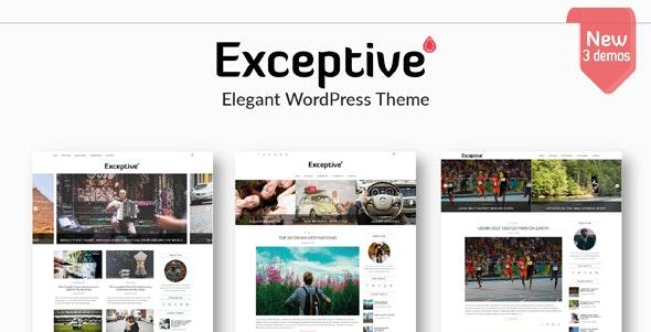 Exceptive - Elegant WordPress Theme - Personal Blog / Magazine