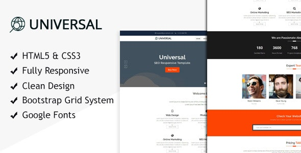 Universal SEO - HTML Template for SEO - Business Corporate