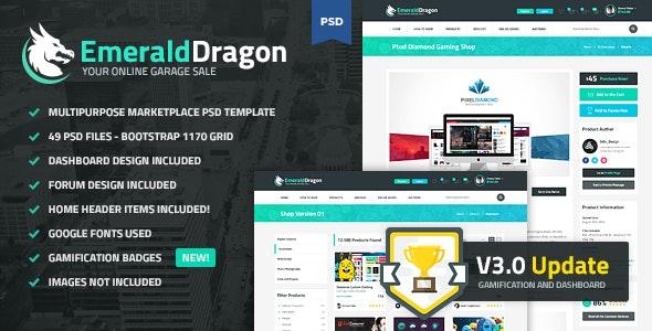 Emerald Dragon - PSD Multipurpose Marketplace - Retail Photoshop