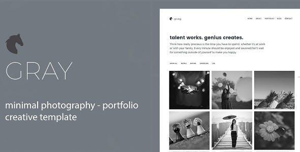 Gray- Minimal Photography and Portfolio Template