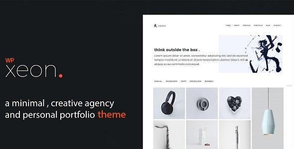 Lightweight Portfolio WordPress Theme - Xeon - Portfolio Creative