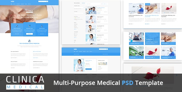 Clinica Multi-Purpose Medical PSD Template - Health & Beauty Retail