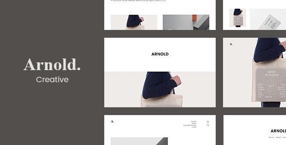 Minimal Portfolio - Arnold. - Portfolio Creative