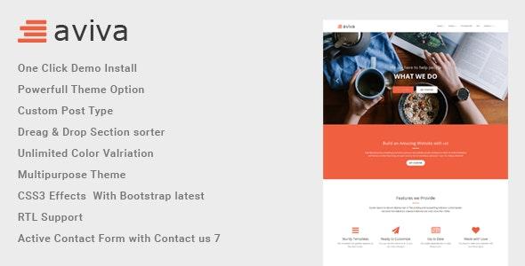 Aviva - Multipurpose WordPress Theme - Business Corporate